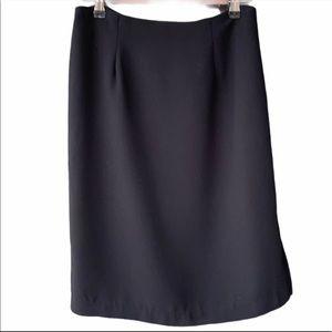 MICHELE Jet Black Pencil Suit Skirt Side Zipper 4